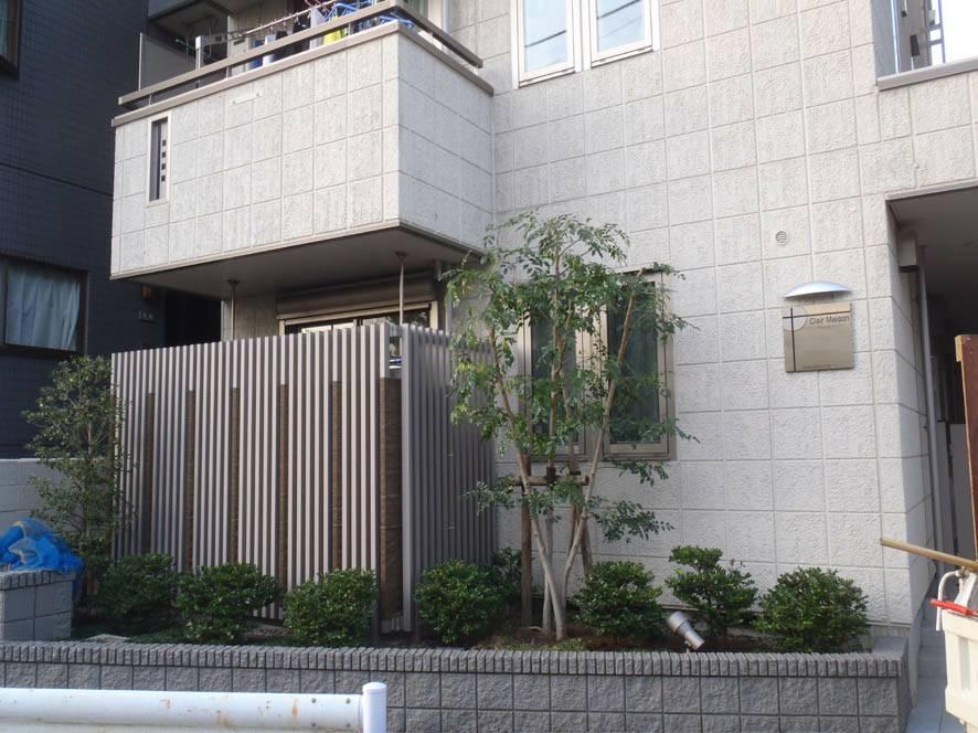 新築マンションにおける植栽