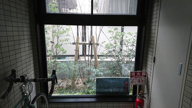 大田区東蒲田「大田区緑の条例」マンションの緑地帯2