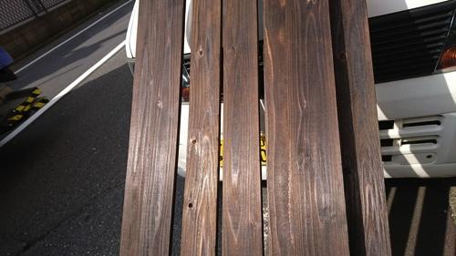 【東京都大田区】植木屋の焼き杉による木製フェンス設置2