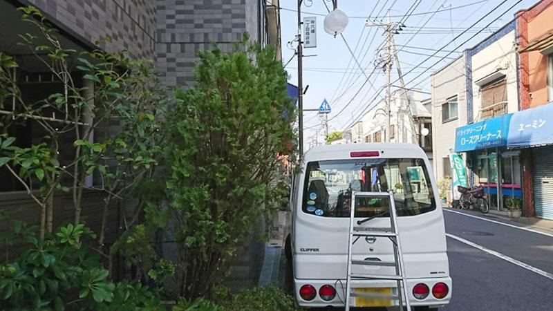 東京都大田区仲六郷にてマンション・植木・剪定の様子5